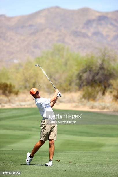 Turk Pettit of the Clemson Tigers hits an approach shot during the Division I Mens Golf Championship held at the Grayhawk Golf Club on May 31, 2021...