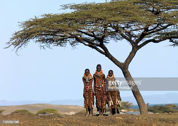 Turkana girls on July 162009 in Kenya