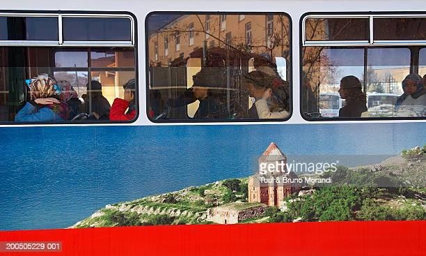 Turkey, Anatolia, Konya, people on tram