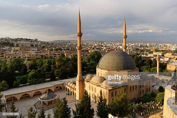 turkey, anatolia, mevlid-i halil camii, dergah mosque - şanlıurfa stock pictures, royalty-free photos & images