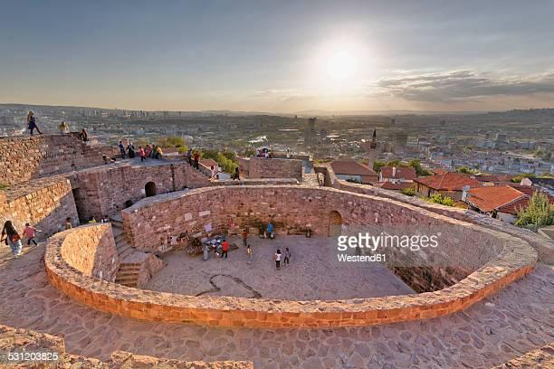 Turkey, Ankara, View of the city from Ankara citadel