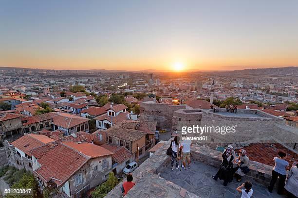 turkey, ankara, view of the city from ankara citadel - ankara turkey stock pictures, royalty-free photos & images
