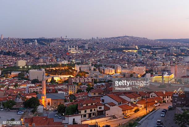 Turkey, Ankara, View of the city with Aslanhane and Kocatepe mosque