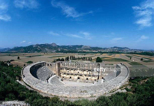 Turkey, Antalya, Aspendos, ancient amphitheater