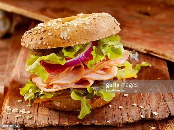 Turkey Bagel Sandwich