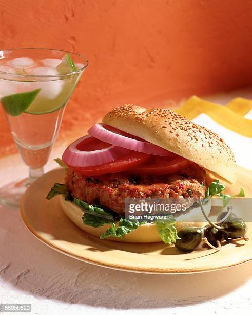 turkey burger - turkey burger stock pictures, royalty-free photos & images