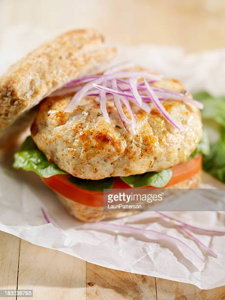 Turkey Burger with Spinach and Tomato