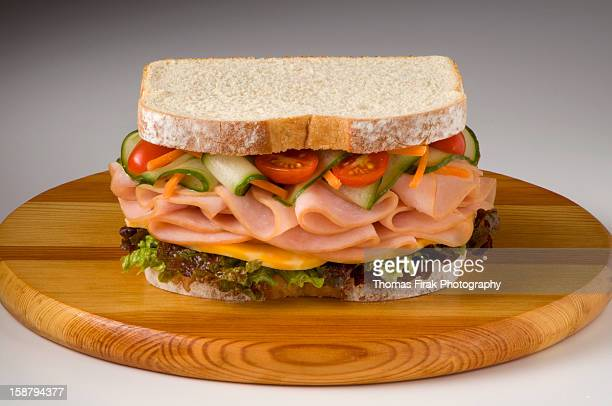 turkey cheese veggie sandwich -  firak stock pictures, royalty-free photos & images