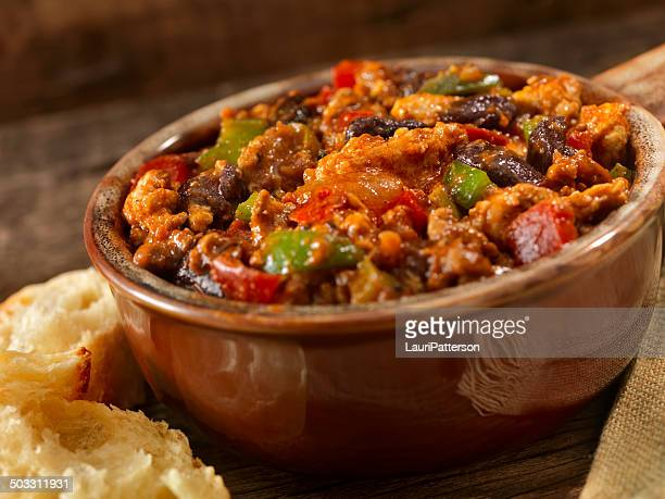 turkey chili - bowl of chili stock photos and pictures