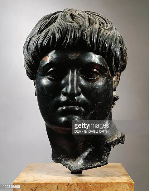 Turkey Cilicia Bust of Nero the 5th Roman Emperor imperial age JulioClaudian dynasty bronze