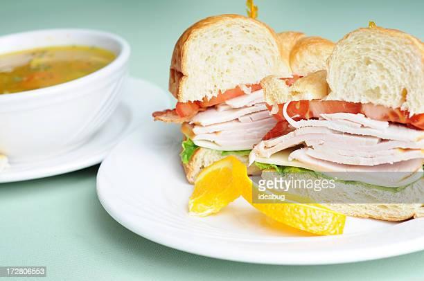 トルコクラブのクロワッサン&スープ