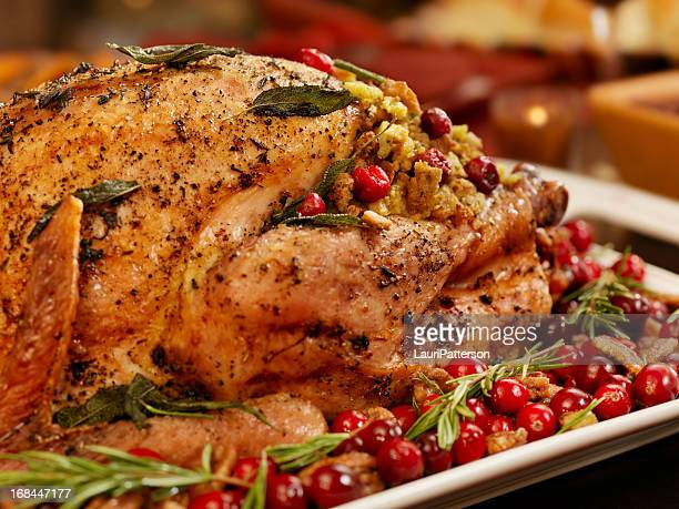 turkey dinner - roast turkey stock pictures, royalty-free photos & images