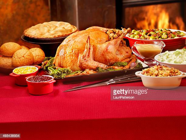 Turkey Dinner with Stuffing and All the Fixings