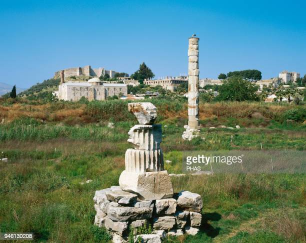 Turkey Ephesus Temple of Artemis or Artemision Greek temple One of 7 Wonders of the Ancient World The side of the temple today