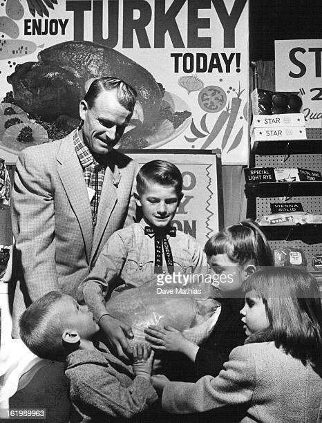 APR 4 1962 Turkey Is Champion in the Oven Too Lloyd Churches of Golden president of the Colorado Turkey Federation and his son Terry who raised the...