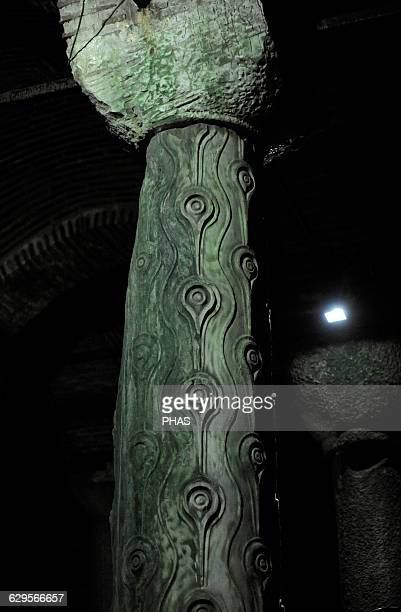 Turkey Istanbul Basilica Cistern 6th century Erected during the reign of Justinian I Column of Tears
