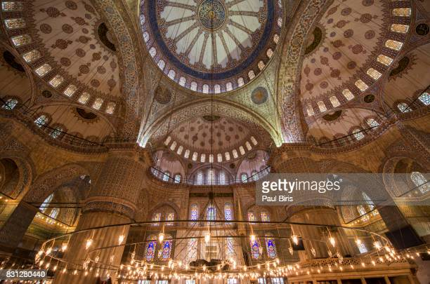 Turkey, Istanbul, Blue Mosque interior