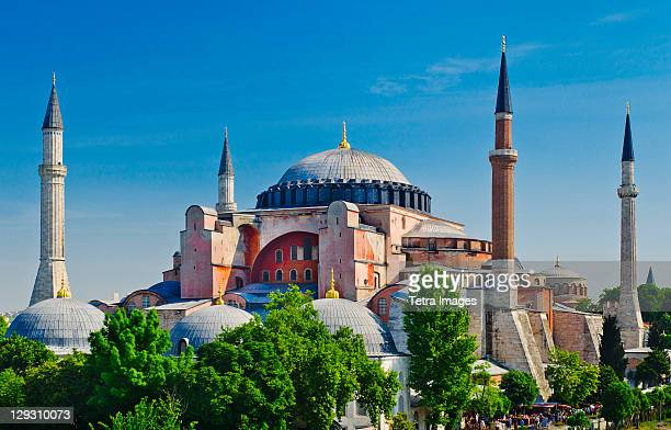 turkey, istanbul, haghia sophia mosque - hagia sophia stock pictures, royalty-free photos & images