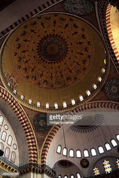 Turkey Istanbul Suleymaniye Mosque Interior Dome