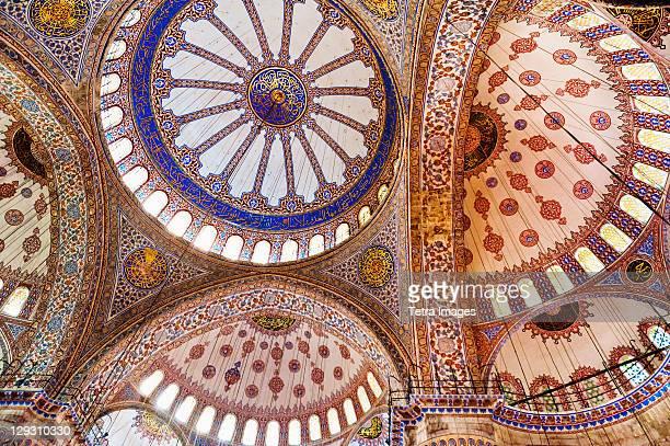Turkey, Istanbul, Sultanahmet Mosque interior
