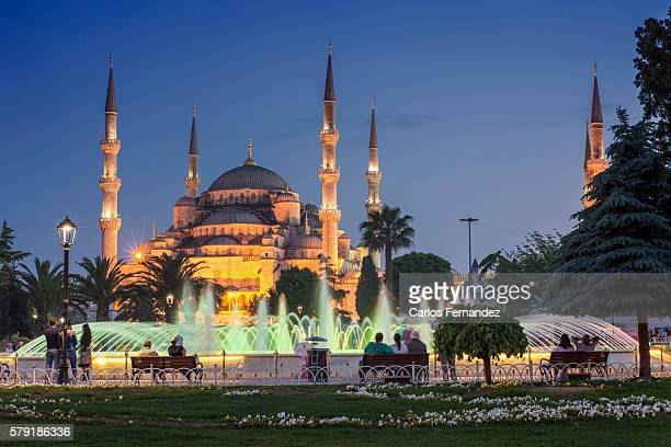 turkey, istanbul, sultanahmet, the blue mosque (sultan ahmet camii) - blue mosque stock pictures, royalty-free photos & images