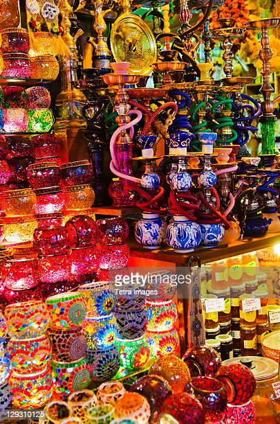 Turkey, Istanbul, Traditional souvenirs on market stall