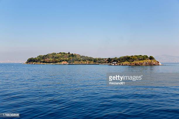 Turkey, Istanbul, View of Kasik Adasi island with Sea of Marmara
