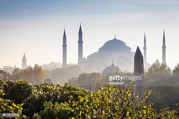 Turkey, Istanbul, view to Haghia Sophia at haze