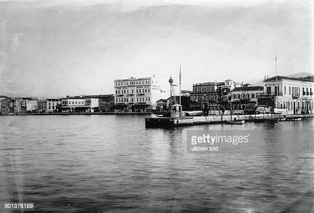 Turkey Izmir waterfront The Grand Hote in the background probably in the 1910s