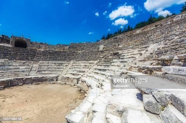 turkey, kusadasi, ephesos, amphitheatre - 円形劇場 ストックフォトと画像