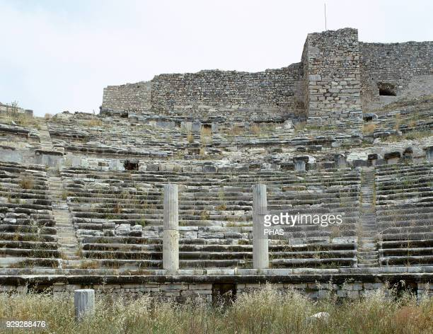 Turkey Miletus Ancient Greek city on the western coast of Anatolia The Theater Cavea and orchestra Hellenistic and Roman Period Ca 300133 BC