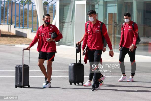 Turkey National Football Team departs to Belgrade in Sivas, Turkey on September 05, 2020 ahead of UEFA Nations League B Group 3, second match against...