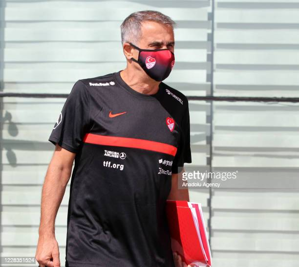 Turkey National Football Team head coach Senol Gunes is seen as Turkey National Football Team departs to Belgrade in Sivas, Turkey on September 05,...