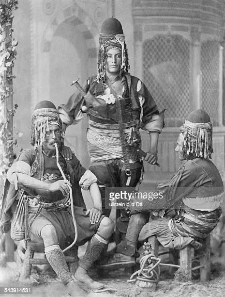 Turkey Ottoman Empire 18601912 Constantinople Istanbul Constantinople Zeybeks Dancers amusing the harem whilst celebrations 1904 Photographer...