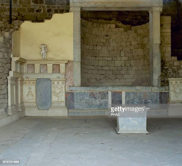 Turkey, Pergamon. Adjoining Heroon of Diodoros Pasparos. Upper Acropolis.