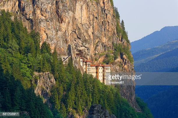 turkey, province trabzon, pontic mountains, sumela monastery - trabzon stock pictures, royalty-free photos & images