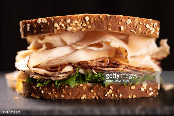 turkey sandwich - sandwich stock pictures, royalty-free photos & images