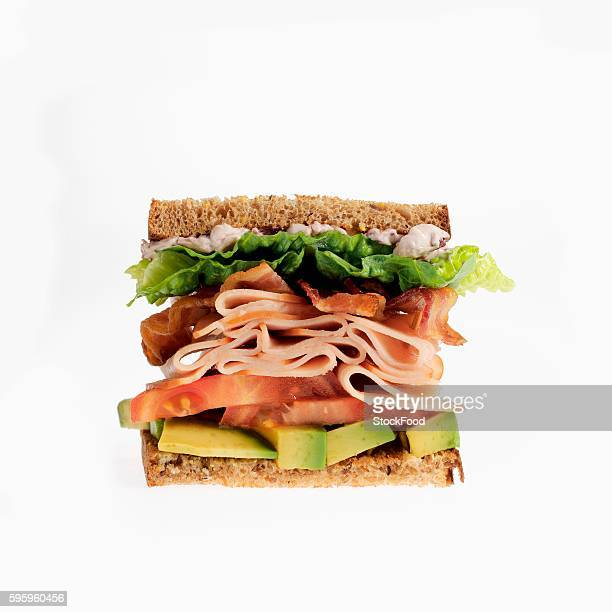 Turkey Sandwich with Bacon, Tomato and Avocado