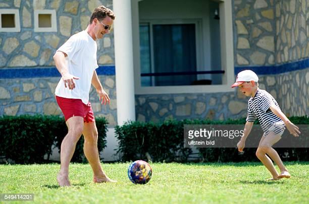 Robinson Club Pamfilya Hotel father and son playing soccer