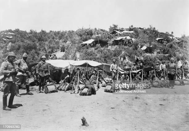 Turkey soldiers camped at Gallipoli Gallipoli Turkey 1915