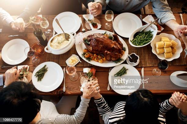 turkey sure is the center piece of every meal - happy thanksgiving stock photos and pictures