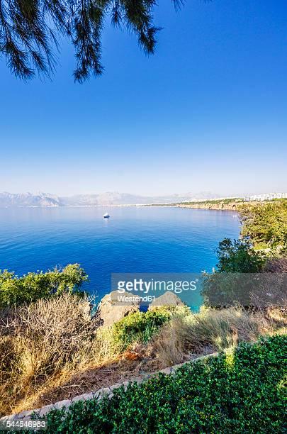 Turkey, Turkish Riviera, View to costal city Antalya