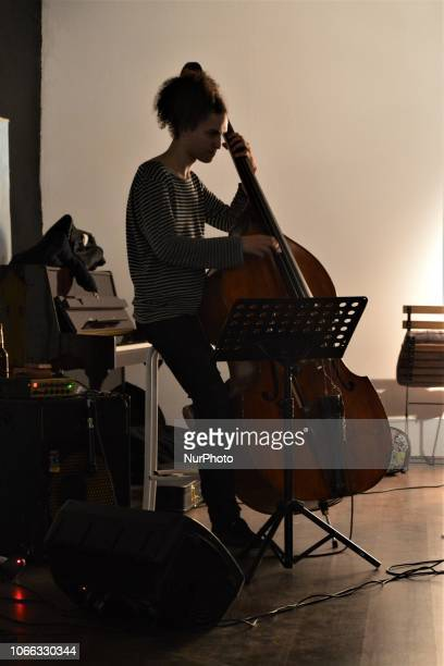 Turkeybased Slugs Jazz Band perform during a Jazz night in Ankara Turkey on November 28 2018 Turkey's relationship with the Jazz musical genre is...
