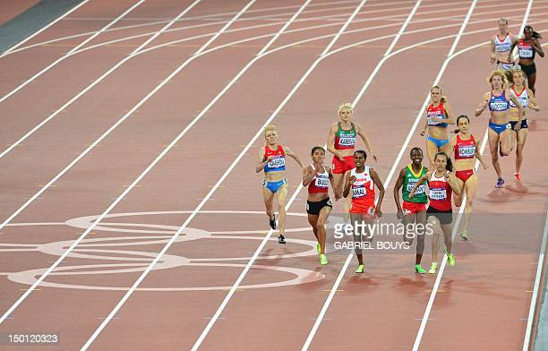 Turkey's Asli Cakir Alptekin competes in the women's 1500m final at the athletics event of the London 2012 Olympic Games on August 10 2012 in London...
