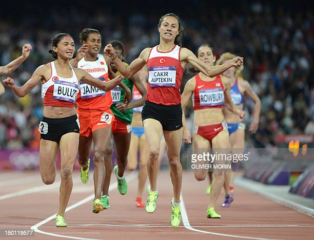 Turkey's Asli Cakir Alptekin wins the women's 1500m final at the athletics event of the London 2012 Olympic Games on August 10 2012 in London AFP...