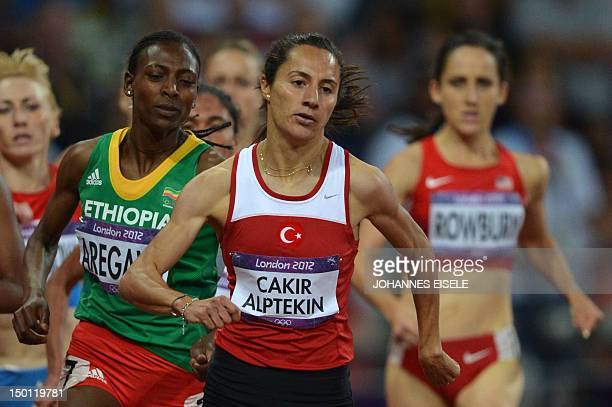 Turkey's Asli Cakir competes in women's 1500m final at the athletics event of the London 2012 Olympic Games on August 10 2012 in London AFP PHOTO /...