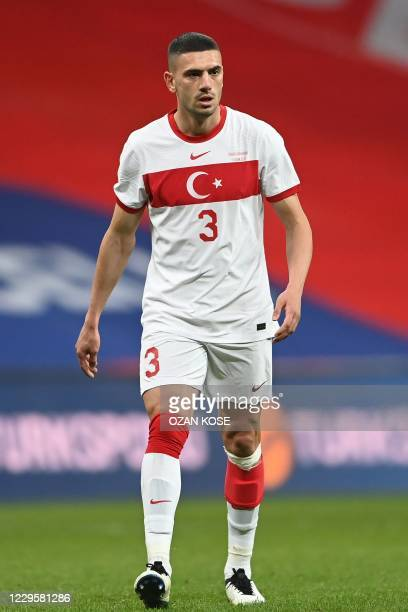 Turkey's defender Merih Demiral walks on the pitch during the friendly football match between Turkey and Croatia at the Vodafone Park in Istanbul on...