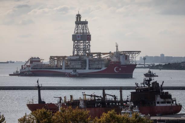 TUR: Turkey's Drilling Vessel Kanuni Arrives In Istanbul Port
