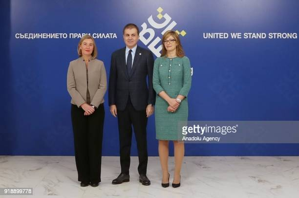 Turkey's EU Affairs Minister Omer Celik High Representative of the European Union for Foreign Affairs and Security Policy Federica Mogherini and...