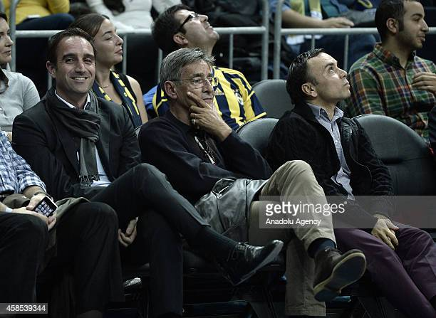 Turkey's former head coach Bogdan Tanjevic watches the 20142015 Turkish Airlines Euroleague Basketball Regular Season Date 4 game between Fenerbahce...